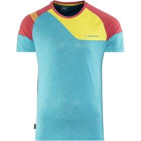 La Sportiva M's TX Combo Evo T-Shirt Tropic Blue/Cardinal Red